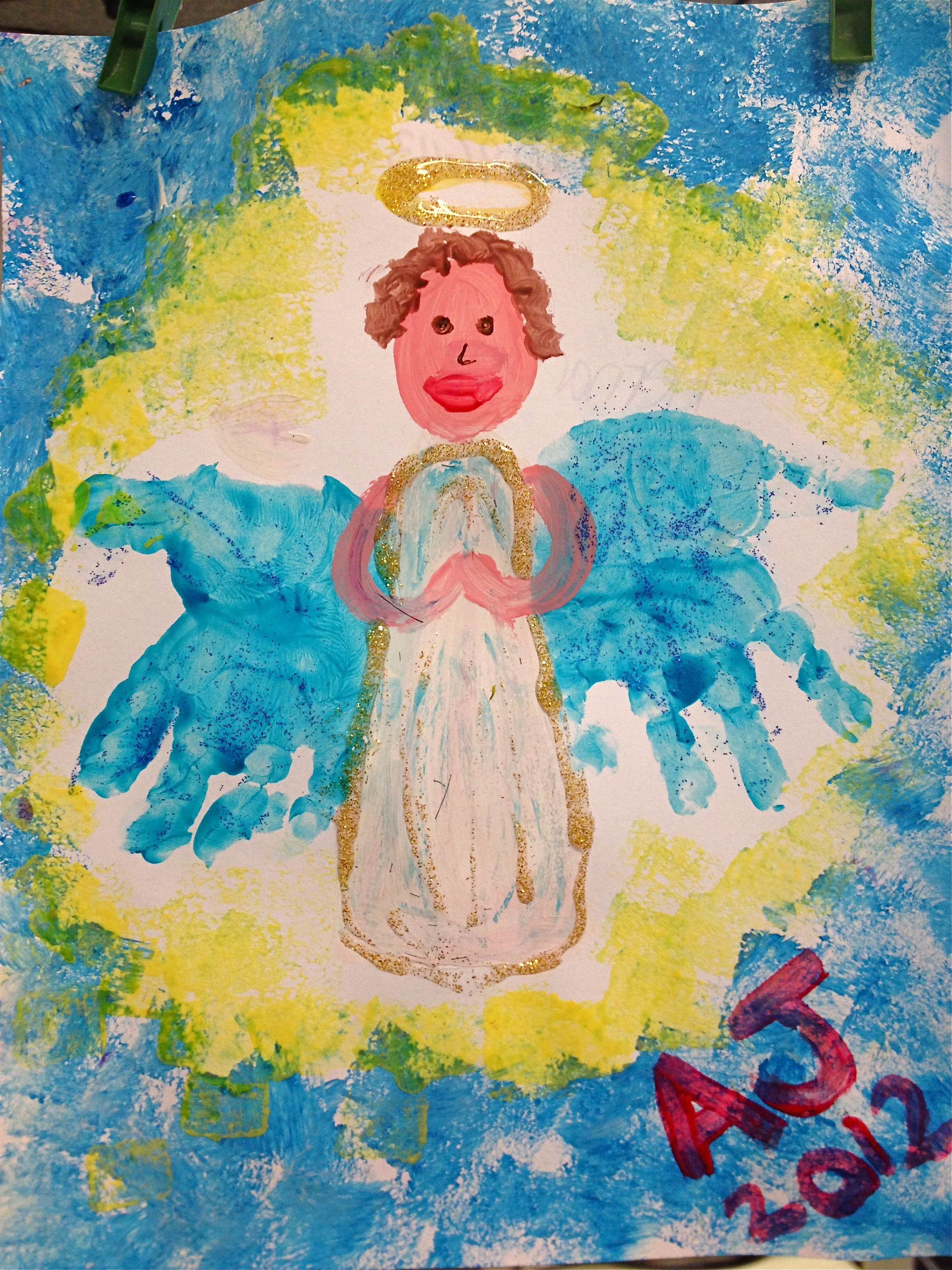 angel handprints to share the good news mommies for manna